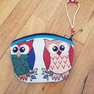 Hand made owls coin purse